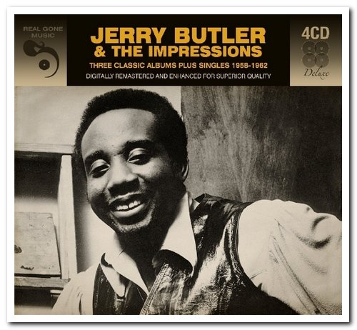Jerry Butler & The Impressions - Three Classic Albums Plus Singles 1958-1962 (2017) [FLAC] Download