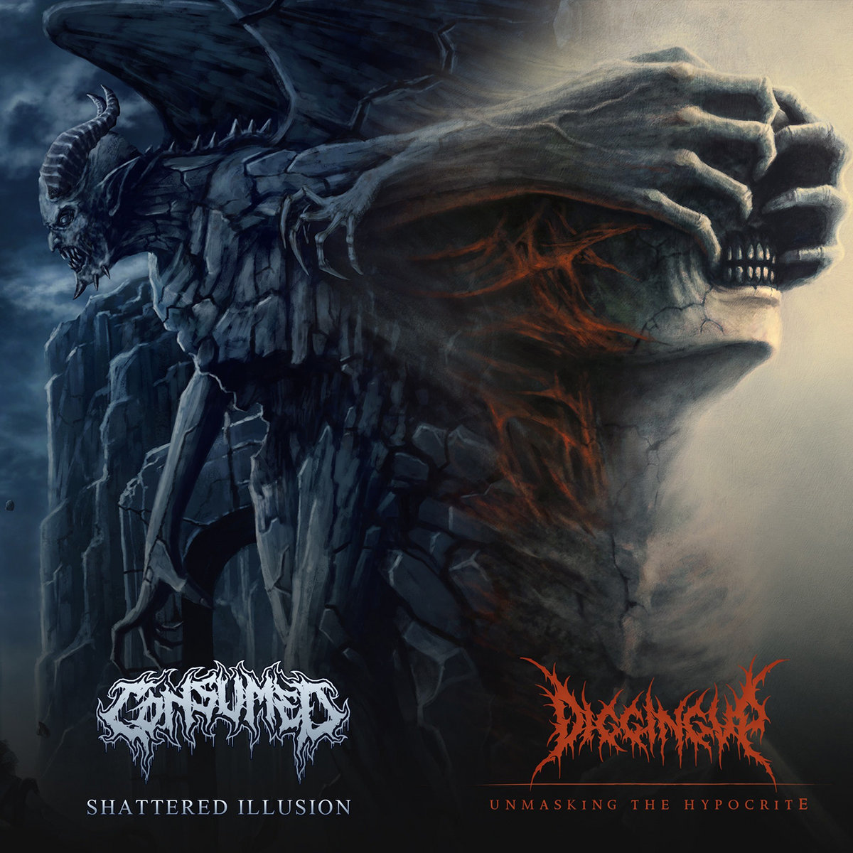 Consumed – Unmasking the Hypocrite / Shattered Illusion (2021) [FLAC]